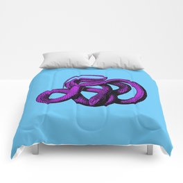 Snek 4 Snake Purple Blue Comforters