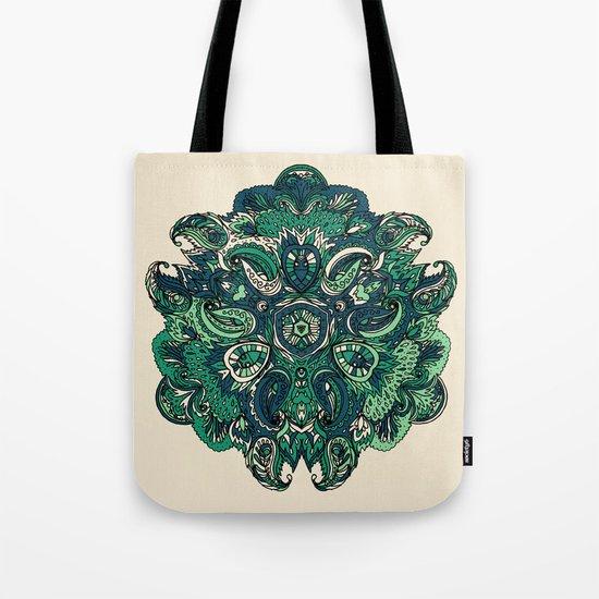 Green Indian Mandala Tote Bag