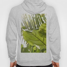 Tropical vibes leaves - Summer Light Hoody