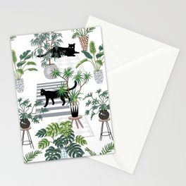 cats in the interior pattern Stationery Cards
