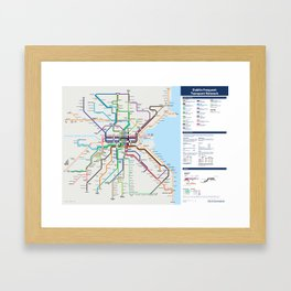 Dublin Frequent Transport Map - Complete Framed Art Print
