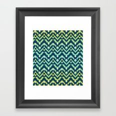 Tetra Ikat Framed Art Print