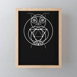 The Owl Sacred Geometry Framed Mini Art Print