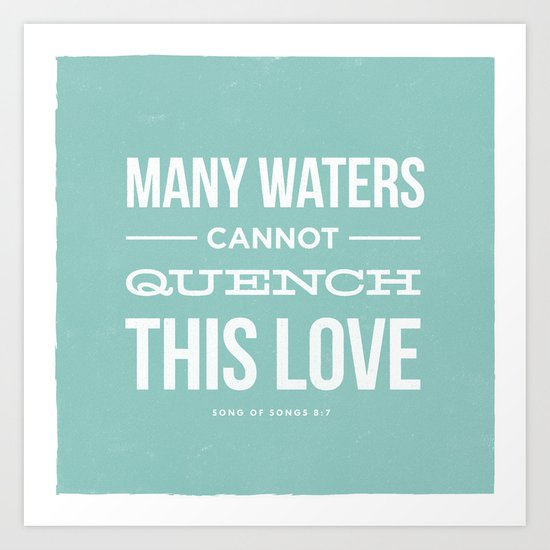 Many Waters Art Print