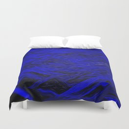 Cobalt Blue From Sand Duvet Cover