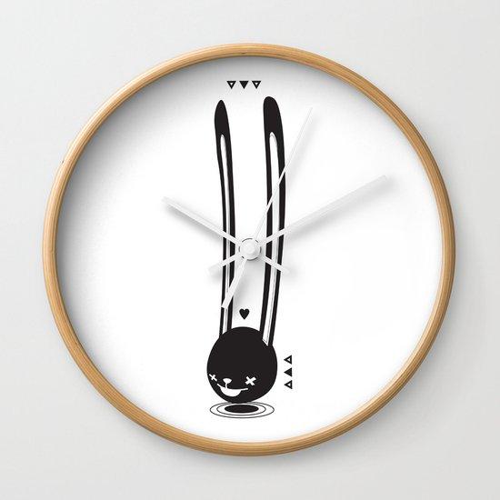 I CAN HEAR YOU ! - LONG EAR BUNNY  Wall Clock