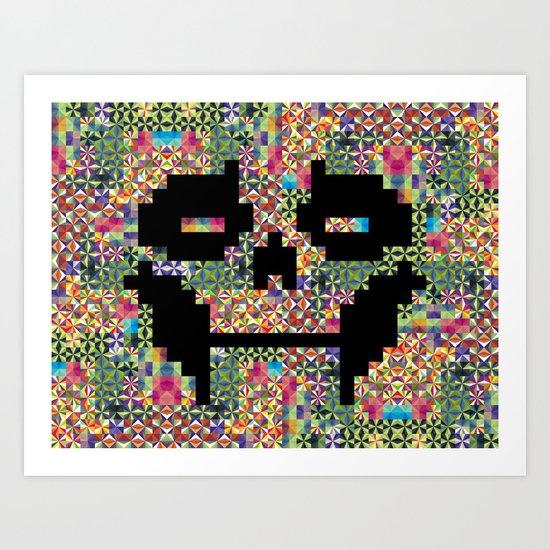 The Black smiles Art Print