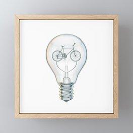 Light Bicycle Bulb Framed Mini Art Print