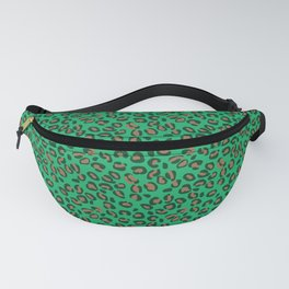 Greenery Green and Beige Leopard Spotted Animal Print Pattern Fanny Pack