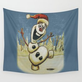 Olaf Christmas Frozen Wall Tapestry