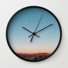 Desert Sky with Harvest Moon Wall Clock