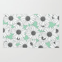 Daisy Mint Blocks Rug