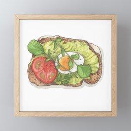 Breakfast & Brunch: Avocado Toast Framed Mini Art Print