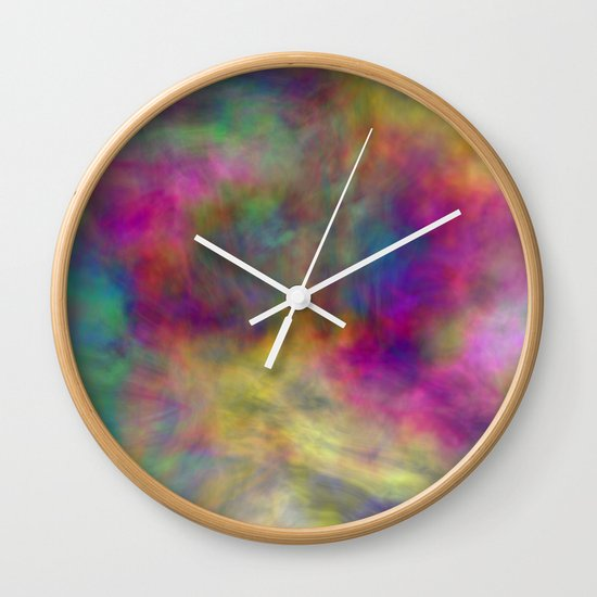 rainbow clouds Wall Clock