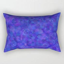 Royal Blue Floral Abstract Rectangular Pillow