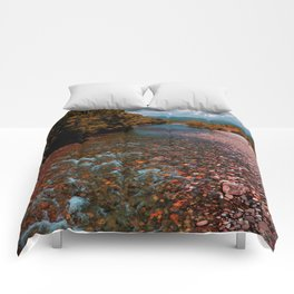 Autumn mountain river #photography #landscape Comforters