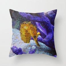 Shy Violet Throw Pillow
