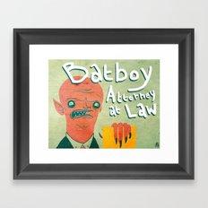 bATBOY Framed Art Print