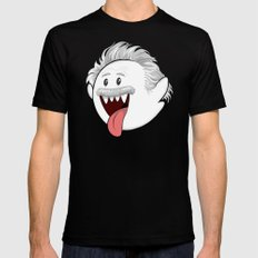 BooStein - Mario Boo and Einstein Mashup Mens Fitted Tee Black LARGE