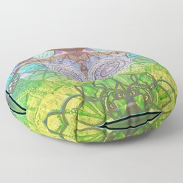 Dreams of Symmetry in Nature Painting Floor Pillow