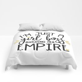 I'm Just A Girl Boss Comforters