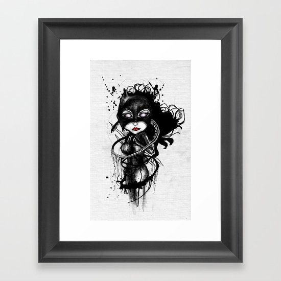Claw Lynx Framed Art Print