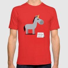 Unicorn Mens Fitted Tee Red MEDIUM