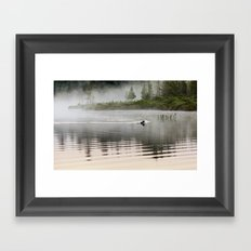 quiet morning Framed Art Print