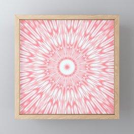 Salmon Pink Kaleidoscope Framed Mini Art Print