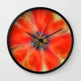Abstract Veil Flower Wall Clock