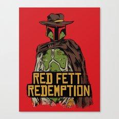 Red Fett Redemption Canvas Print