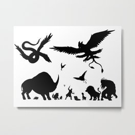 Case Full of Creatures Metal Print