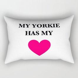 My Yorkie Has My Heart Rectangular Pillow