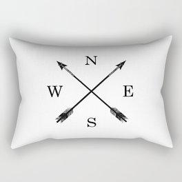 Arrows NSEW Rectangular Pillow