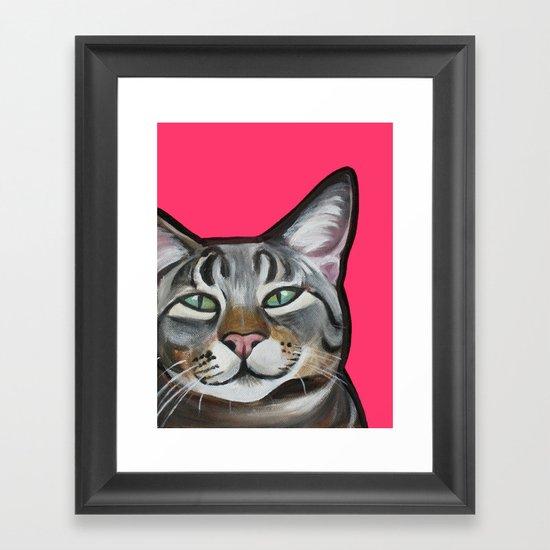 Whiskers the Tabby Cat Framed Art Print