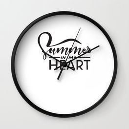 Summer In My Heart Wall Clock