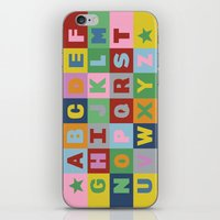 alphabet iPhone & iPod Skins featuring Alphabet by Project M