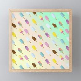 Popsicle Summer Framed Mini Art Print