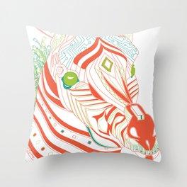 Robot Zebra Throw Pillow