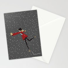 Ice Skate girl Stationery Cards