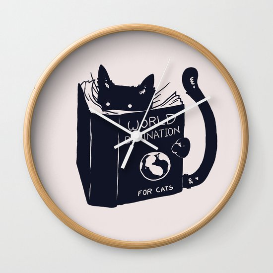 World Domination For Cats Wall Clock