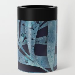 Watercolor Ferns Can Cooler