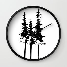 Trees and Compass Wall Clock