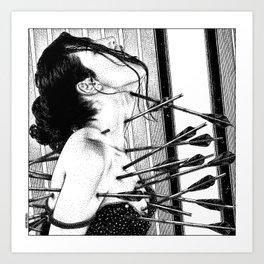 asc 778 - La lione blessée (Love is a killer) Art Print