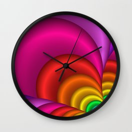 fractal and colorful -3- Wall Clock