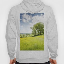 Idyllic Cotswold Summer Landscape Hoody