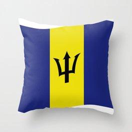 barbados flag Throw Pillow