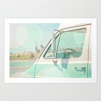 Retro Drive Art Print