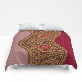 Arabian Nights in Red and Gold Comforters