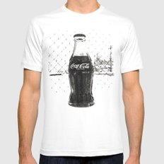 Frosty Coke MEDIUM White Mens Fitted Tee